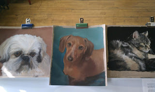 Trio of Pet Portraits